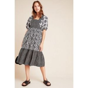 NEW Anthropologie | Adrienne Flounced Midi Dress
